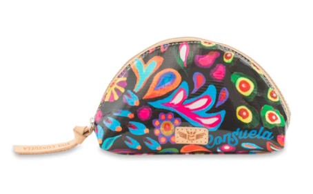 Consuela Sophie Black Swirly Cosmetic Bag