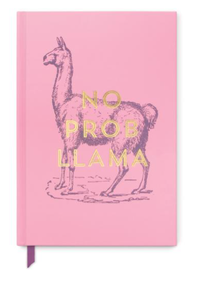 "Llama ""No Problem Llama"" Book Bound Journal"
