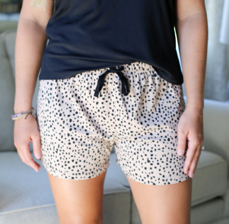 Cheetah Sleep Shorts Tan/Black