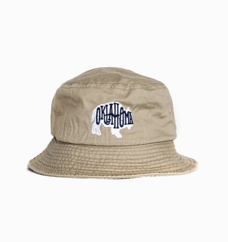 Oklahoma Bison Embroidered Bucket Hat