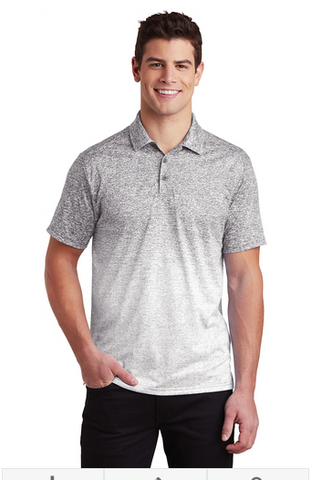 Tri County Mens Ombre Heather Polo