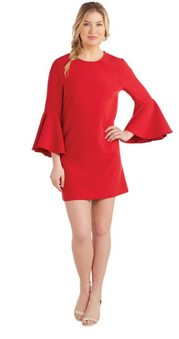 Poinsettia Bell Sleeve Dress