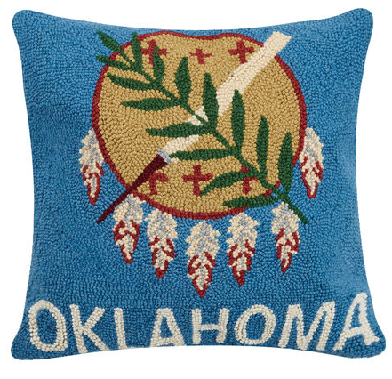 Oklahoma Flag Pillow 18 x 18