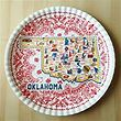 "Oklahoma Melamine Platter 16"" by One Hundred 80 Degrees"