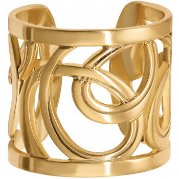 Christo Gold Vienna Wide Ring