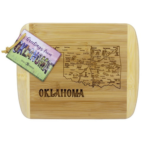 "A Slice of Life Oklahoma Serving and Cutting Board, 11"" x 8-3/4"""