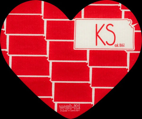 Swedish Dishcloth / Heart Shaped Kansas