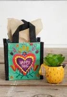 Extra Small Turquoise Heart Happy Bag by Natural Life