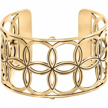 Christo NYC Wide Cuff Bracelet ( Gold )