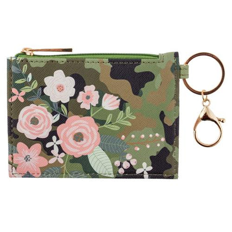 Zip ID Holder w/ Key Ring ( Camo )