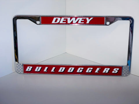 Dewey Bulldogger License Plate Holder