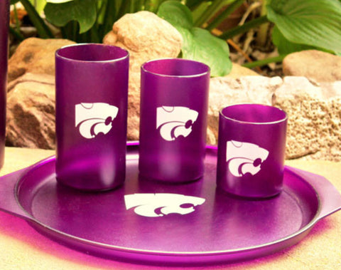 Kansas State 4 pack Bentley Drinkware 16 oz