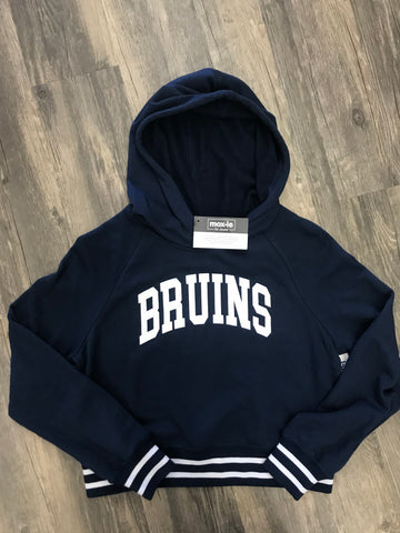 Bruin Ladies Navy Crop Hoodies
