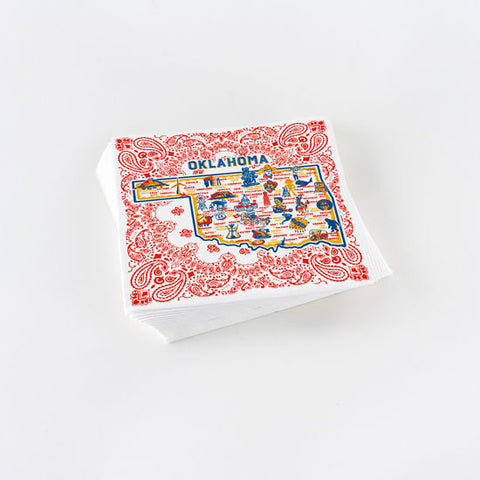 All Around Oklahoma Pattern Napkins   ( 20 pc. )