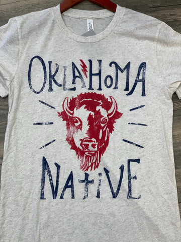 Oklahoma Native Bison T-Shirt