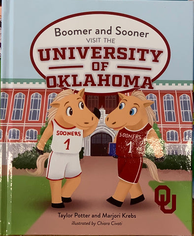 Boomer and Sooner visit OU Local Author