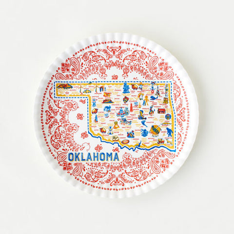 All Around Oklahoma Plate