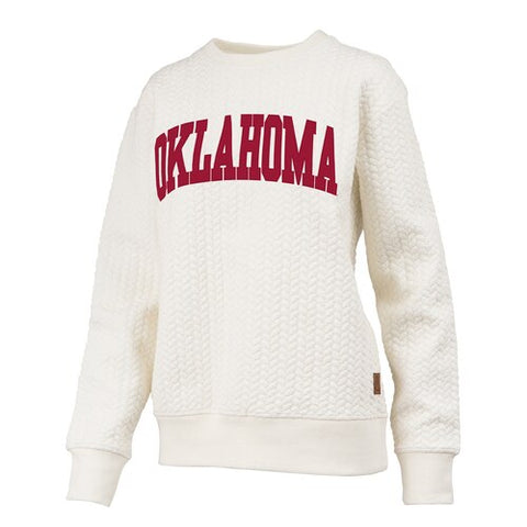 Oklahoma Cable Knit Crew
