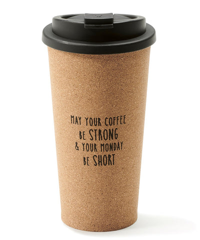 Coffee and Monday Cork Travel Tumbler