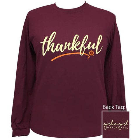 Thankful in Maroon Shirt