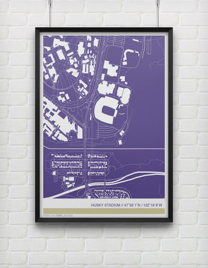 Washington Huskies Stadium Map