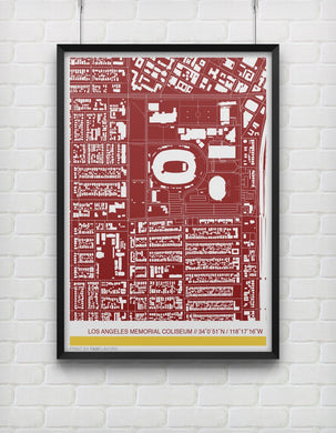 USC Trojans Stadium Map