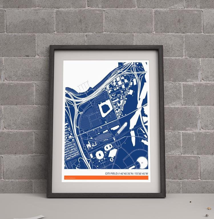 New York Mets Ballpark Map