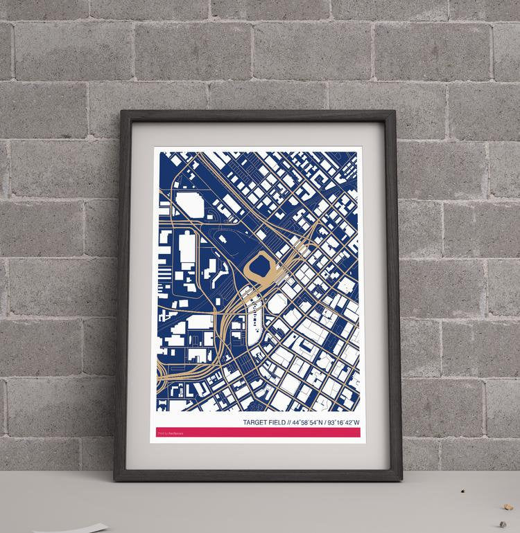 Minnesota Twins Ballpark Map