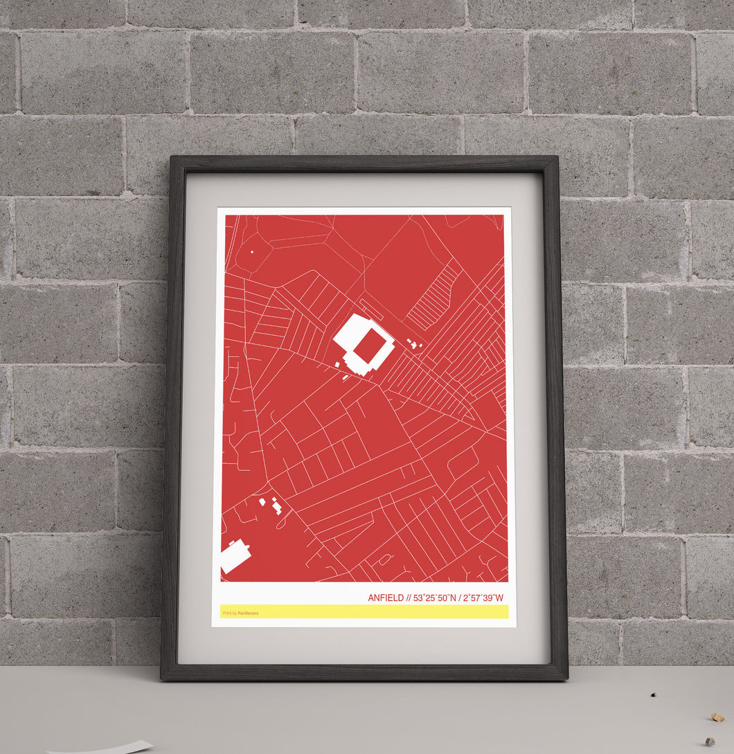 Liverpool Stadium Map