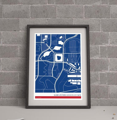Texas Rangers Ballpark Map