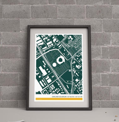 Oakland A's Ballpark Map