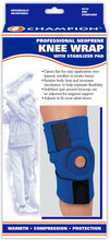 C-314 / NEOPRENE KNEE WRAP WITH PATELLAR STABILIZING PAD