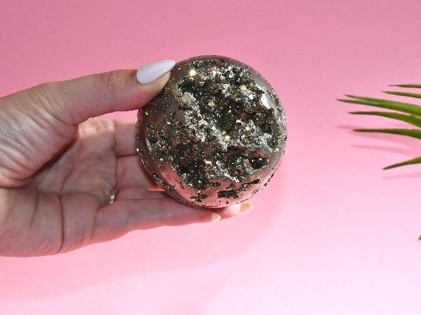 Large Pyrite Crystal Sphere | 626g Soji Energy