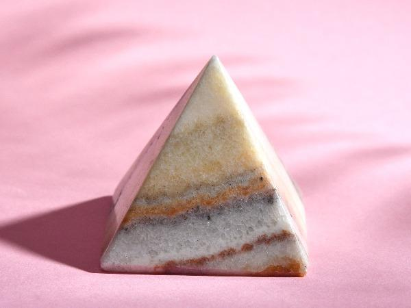 White Agate Crystal Pyramid Soji Energy