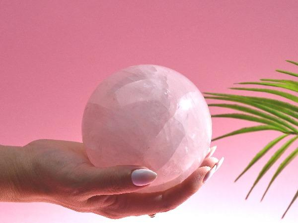 Large Rose Quartz Crystal Sphere | 1298g Soji Energy
