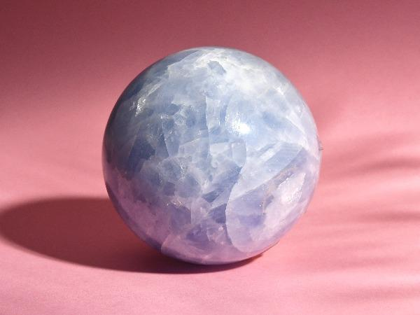 Large Blue Calcite Quartz Crystal Sphere | 810g Soji Energy