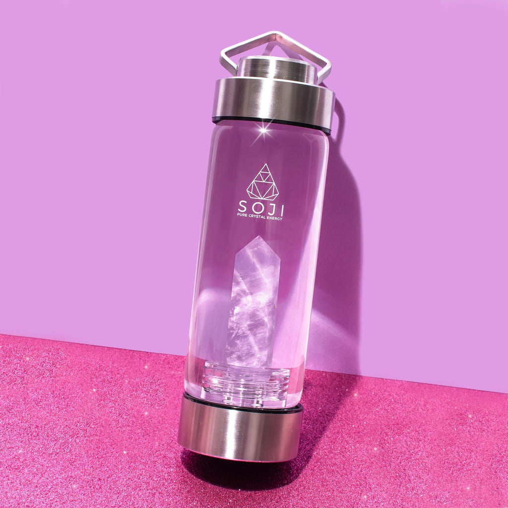 Amethyst Quartz Crystal Elixir Water Bottle Water Bottle Soji Energy