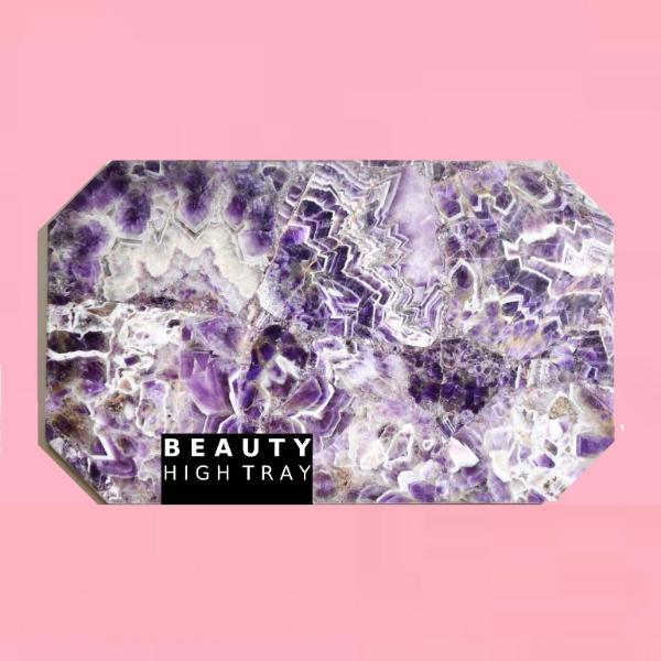 amethyst quartz crystal tray