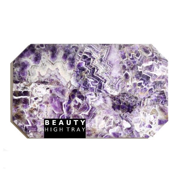 Amethyst Quartz Crystal Rectangle Tray tray Soji Energy
