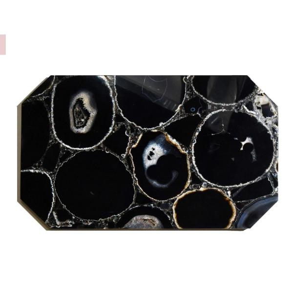 Black Agate Crystal Rectangle Tray tray Soji Energy