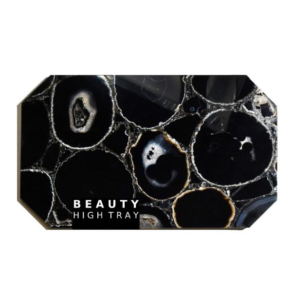 Black Agate Crystal Rectangle Tray Soji Energy
