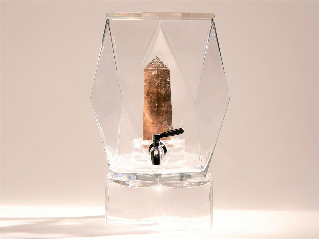 Smoky Quartz Crystal Elixir Water Dispenser dispenser Soji Energy