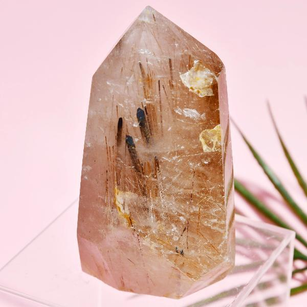 LARGE RUTILATED QUARTZ TOWER Soji Energy