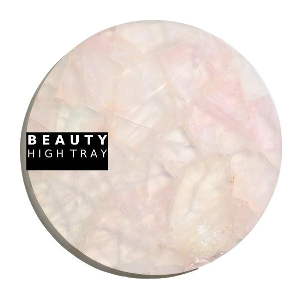 Rose Quartz Crystal Round Tray tray Soji Energy