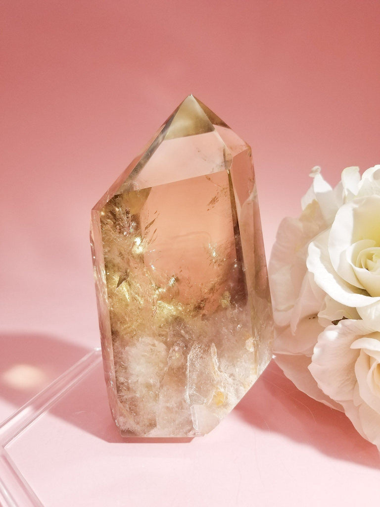 Large Citrine Quartz Tower | 1,290g Soji Energy