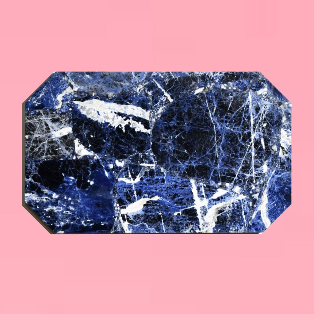 Sodalite Crystal Rectangle Tray tray Soji Energy