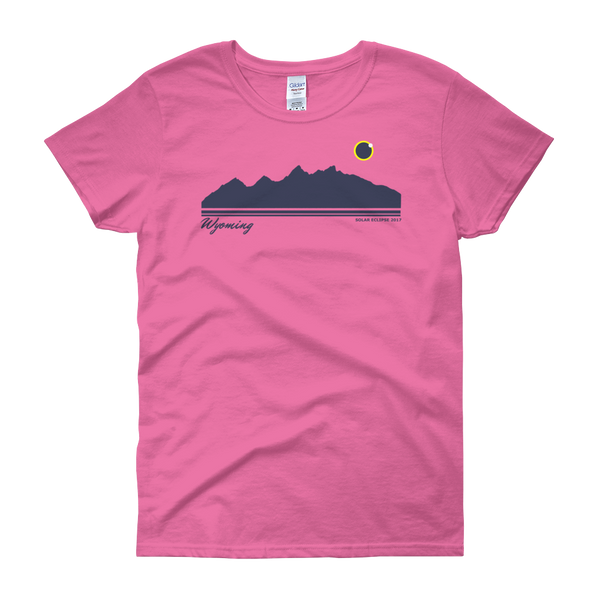 Grand Teton Silhouette 2017 Solar Eclipse - Women's Short Sleeve