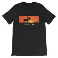 Wyoming Elk Sunset - Men's/Unisex Short Sleeve