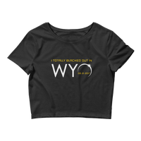 """I Totally Blacked Out in WYO"" Eclipse - Women's Crop Top"