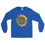 2017 Solar Eclipse Watercolor Burst  - Men's/Unisex Long Sleeve